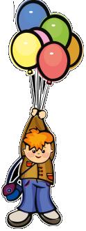 Felicidad jugando con los globos que me regaló Mirella