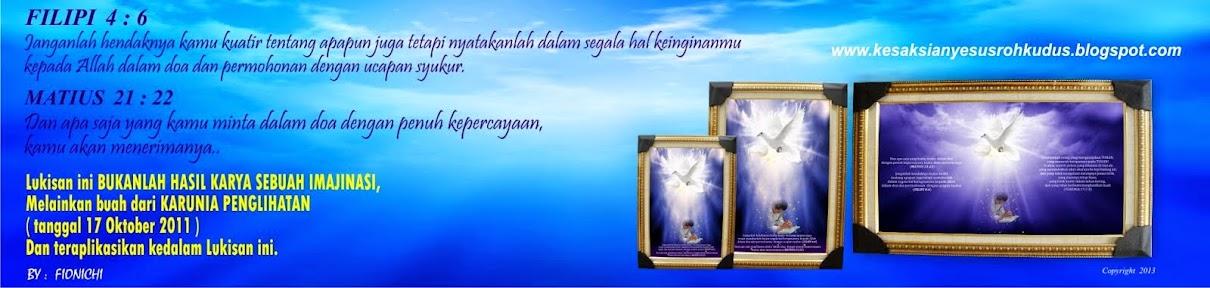 LUKISAN FOTO GAMBAR YESUS - ROH KUDUS (Vision Tahun 2012) JESUS-HOLY SPIRIT IMAGE