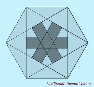 PMQ12 overlapping squares in hexagon