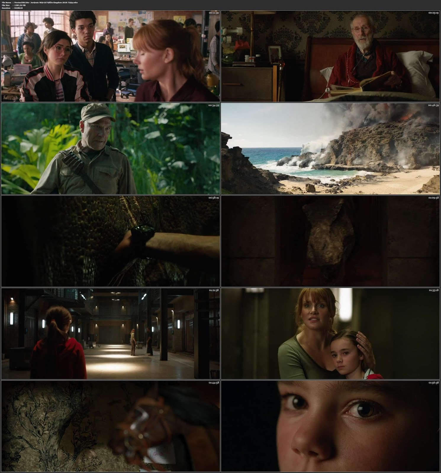 Jurassic World Fallen Kingdom 2018 Hindi Dubbed 400MB ENG HDRip 480p