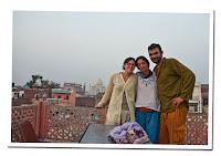 En la terraza del Gaurav Guest House