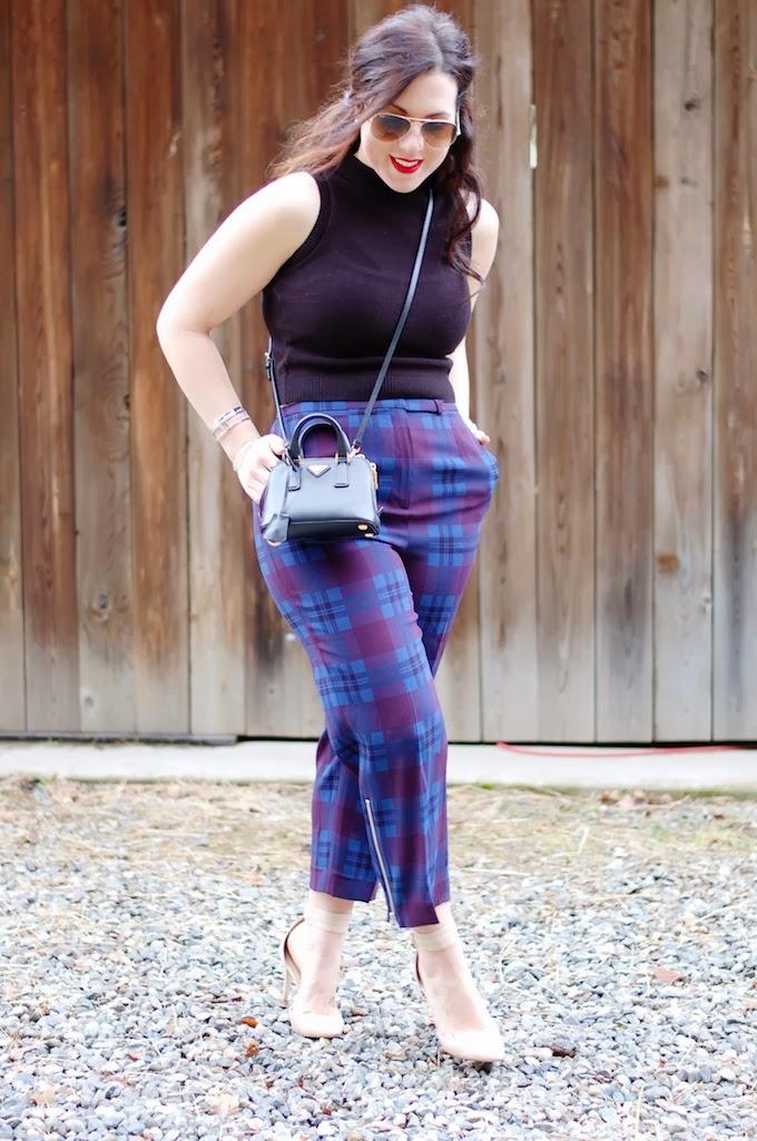 Aritzia Babaton Elton pant outfit mini Prada