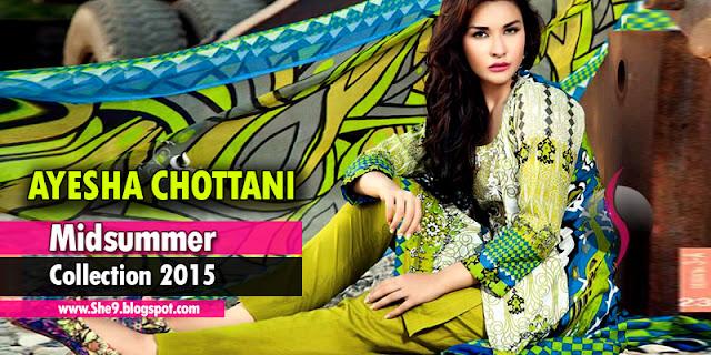 Ayesha Chottani Midsummer Lawn Magazine