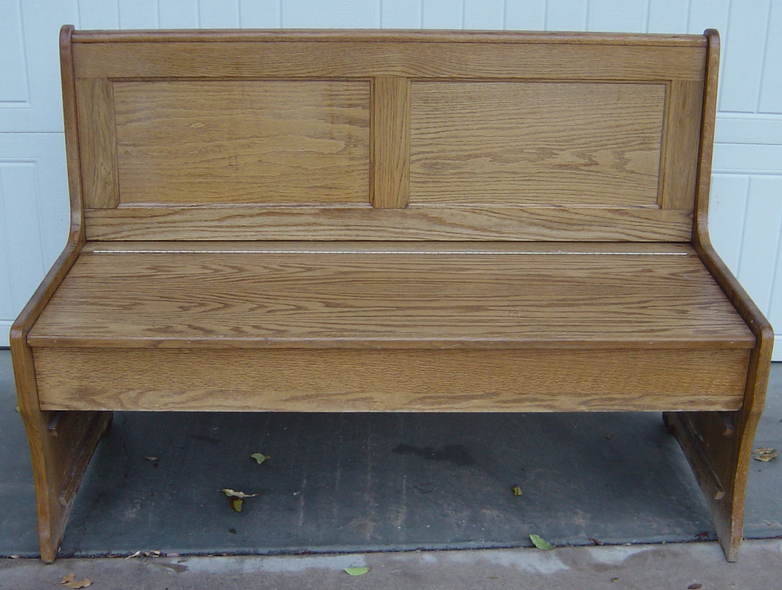 how to make a church pew bench