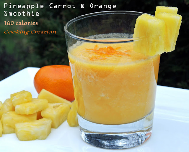 Cooking Creation: Pineapple Carrot & Orange Smoothie with Ginger