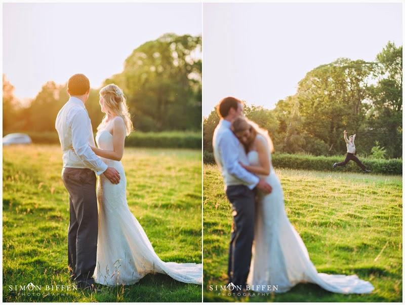 Wedding couple photobombed