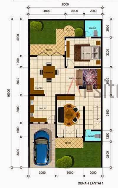 desain rumah 2 lantai 4 kamar tidur