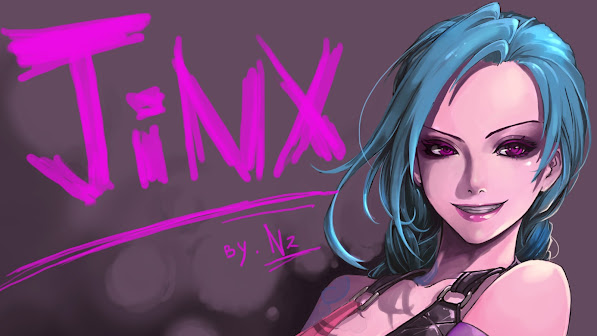 jinx fan art girl league of legends game