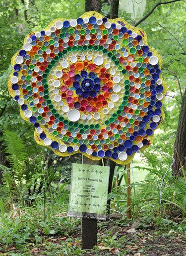 Shake rag alley blog colorful children 39 s art enlivens the for Bottle cap craft ideas for kids