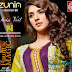 Zunia Designer Embroidered Collection 2015 Swiss Voil VOL-02 By Rujhan Fabrics