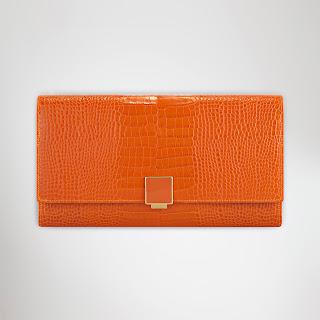 Bright orange designer organiser