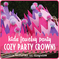 http://www.thrifterindisguise.com/2014/02/diy-cozy-kids-party-crowns.html