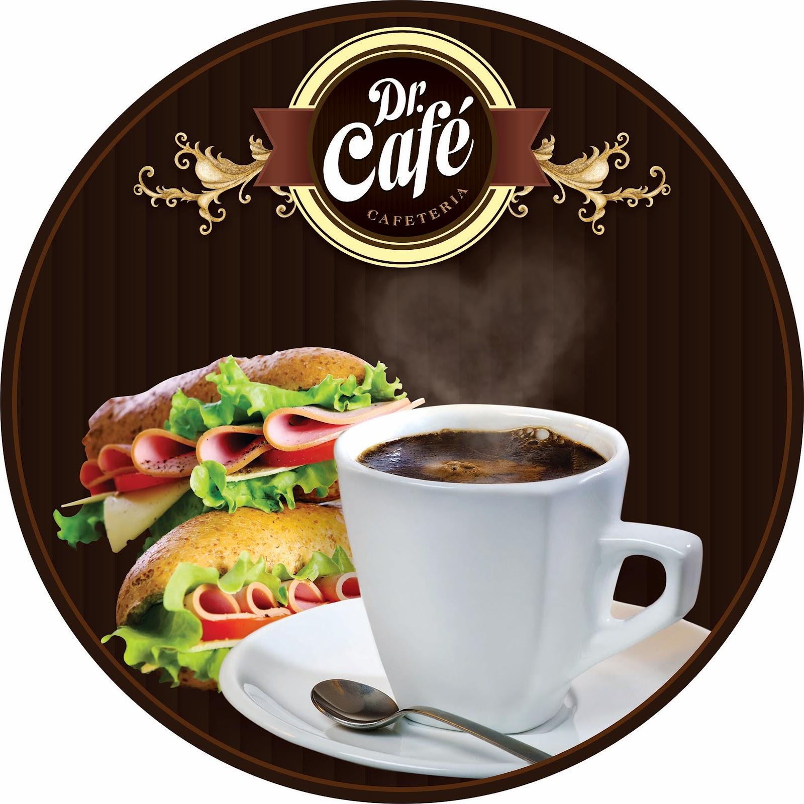 Fabio Savenni: Logo e Placas Dr. Café Cafeteria