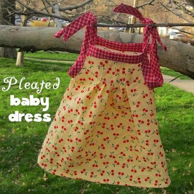 sewing tutorial for baby pleated dress