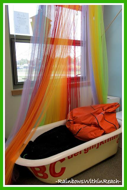 photo of: Kindergarten Antique Bathtub Reading Center via RainbowWithinReach