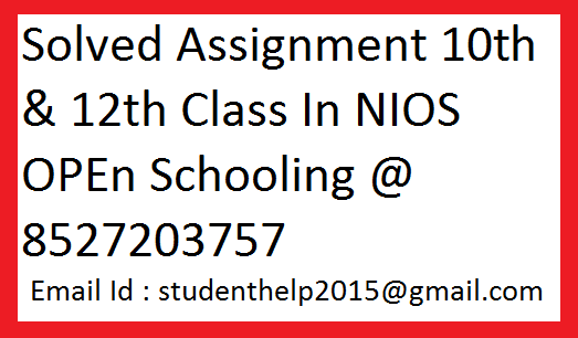 Nios assignments