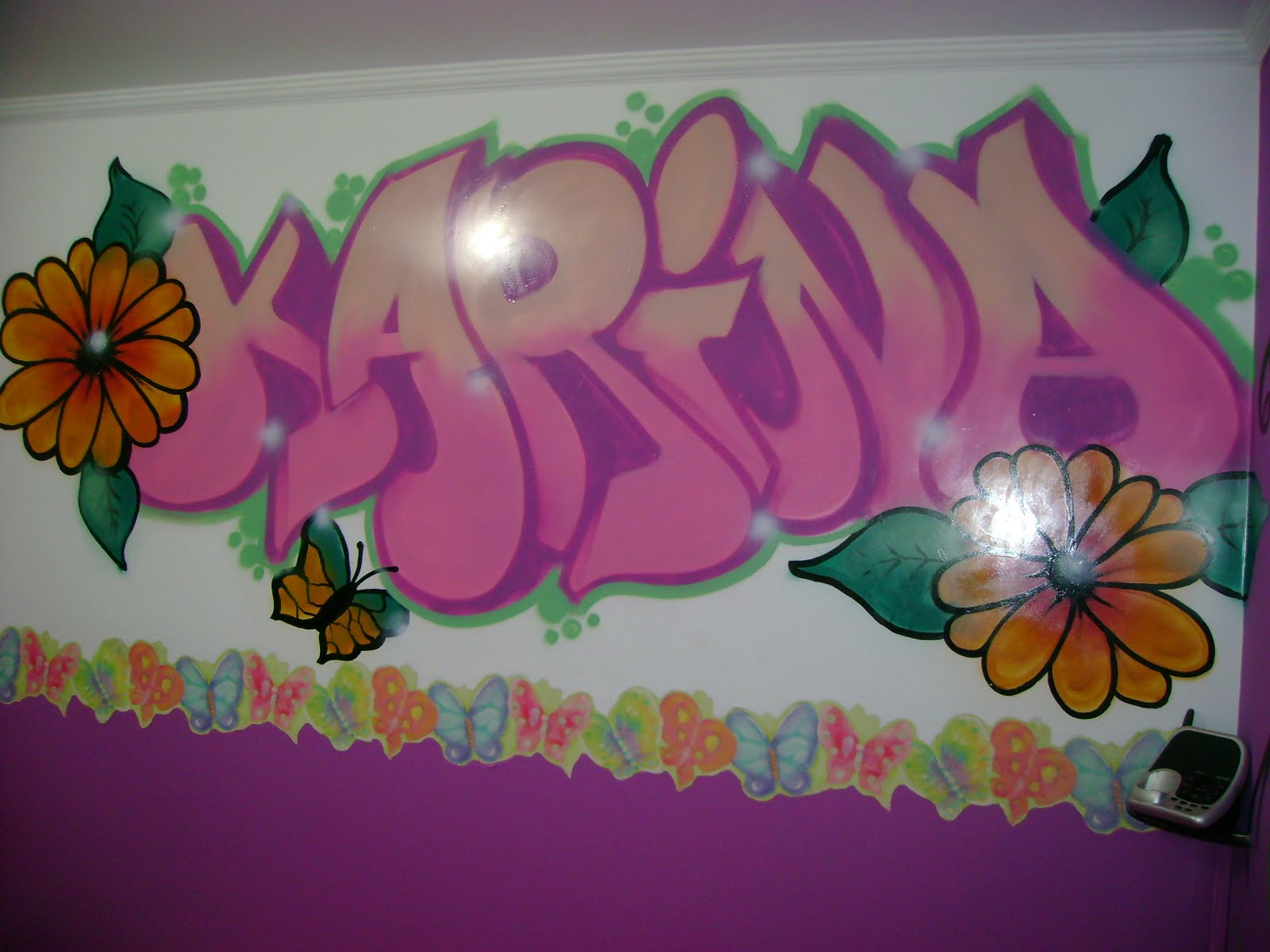 The Name Karina in Graffiti
