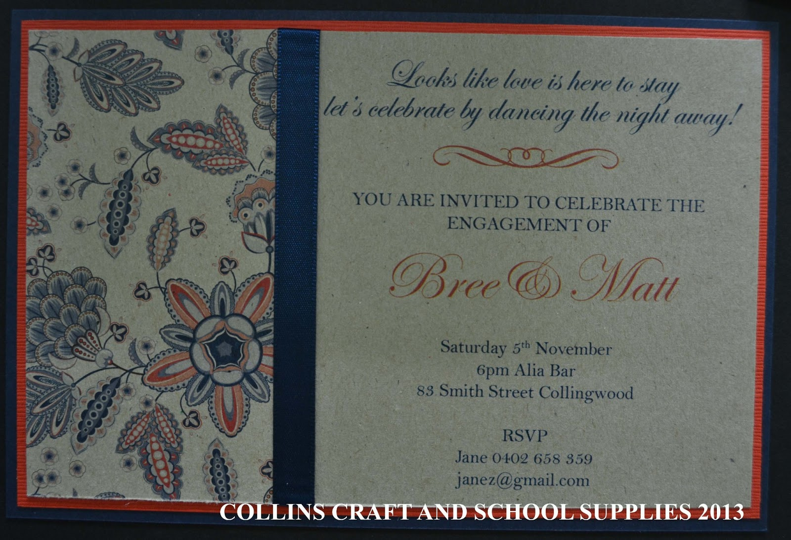 Collins Invitations: New Invitations Samples from the Bridal Fair -- Natural