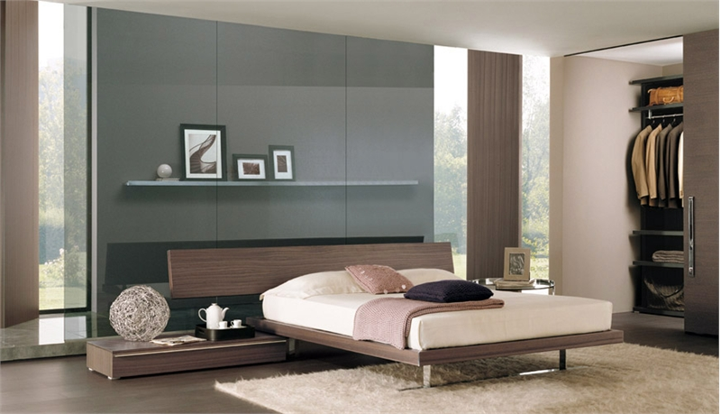 high tech bedroom designs with platform bed