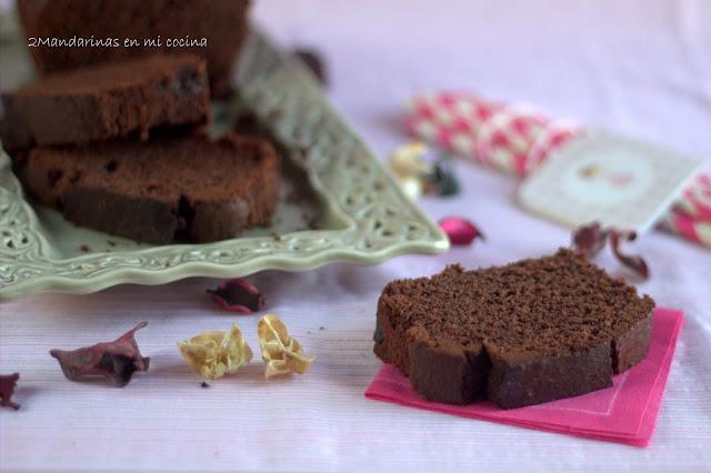 Pastel dulce de chocolate