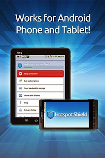Screenshots of the Hotspot Shield Vpn for Android tablet, mobile phone.