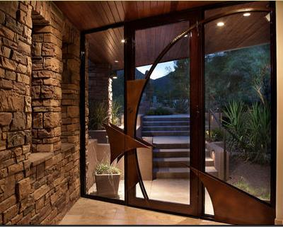 Fotos y dise os de puertas puertas entrada aluminio - Puertas de aluminio exteriores ...