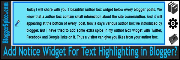 notice widget