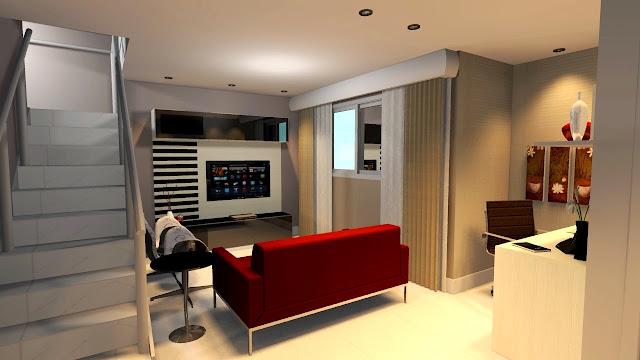 Home Theater e Home Office Planejados em um Mesmo Ambiente