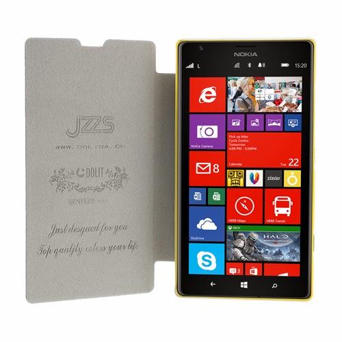 Oracle Grain Slim Leather Flip Case for Nokia Lumia 520 525 - White