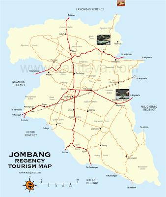 Peta Wisata Kabupaten Jombang