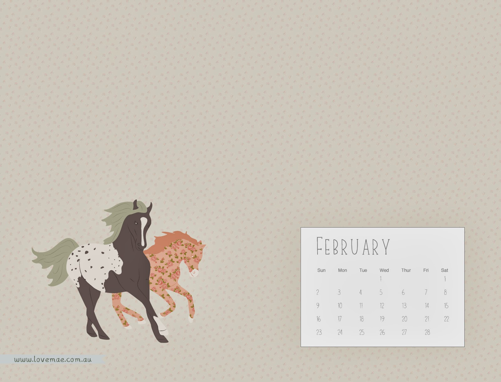 Calendar Wallpaper Love Mae : Welcome to february the year of horse and a new
