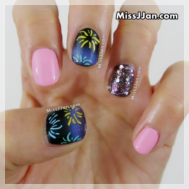 Missjjans beauty blog fireworks nail art short nails an error occurred prinsesfo Images