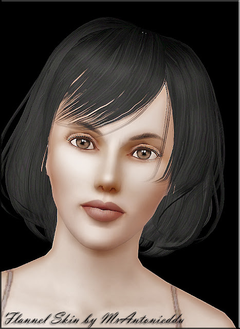 The skin in NON-default. Only for young adult female sims.
