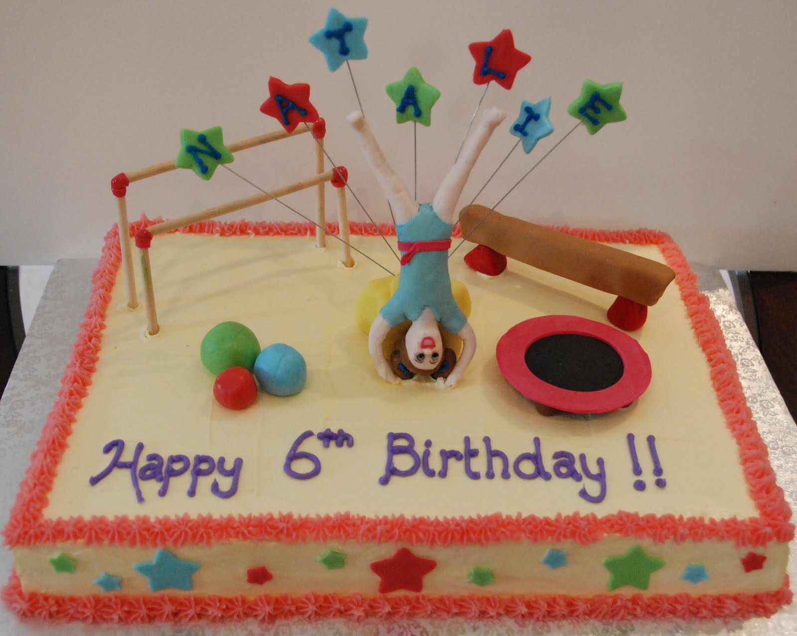 Cake Creations By Trish Gymnastics Birthday Cake