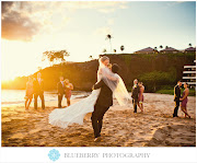 Maui Wedding PhotographySheraton Resort & Spa . Mandy & Luke (maui hawaii bridal party sunset beach wedding photography )