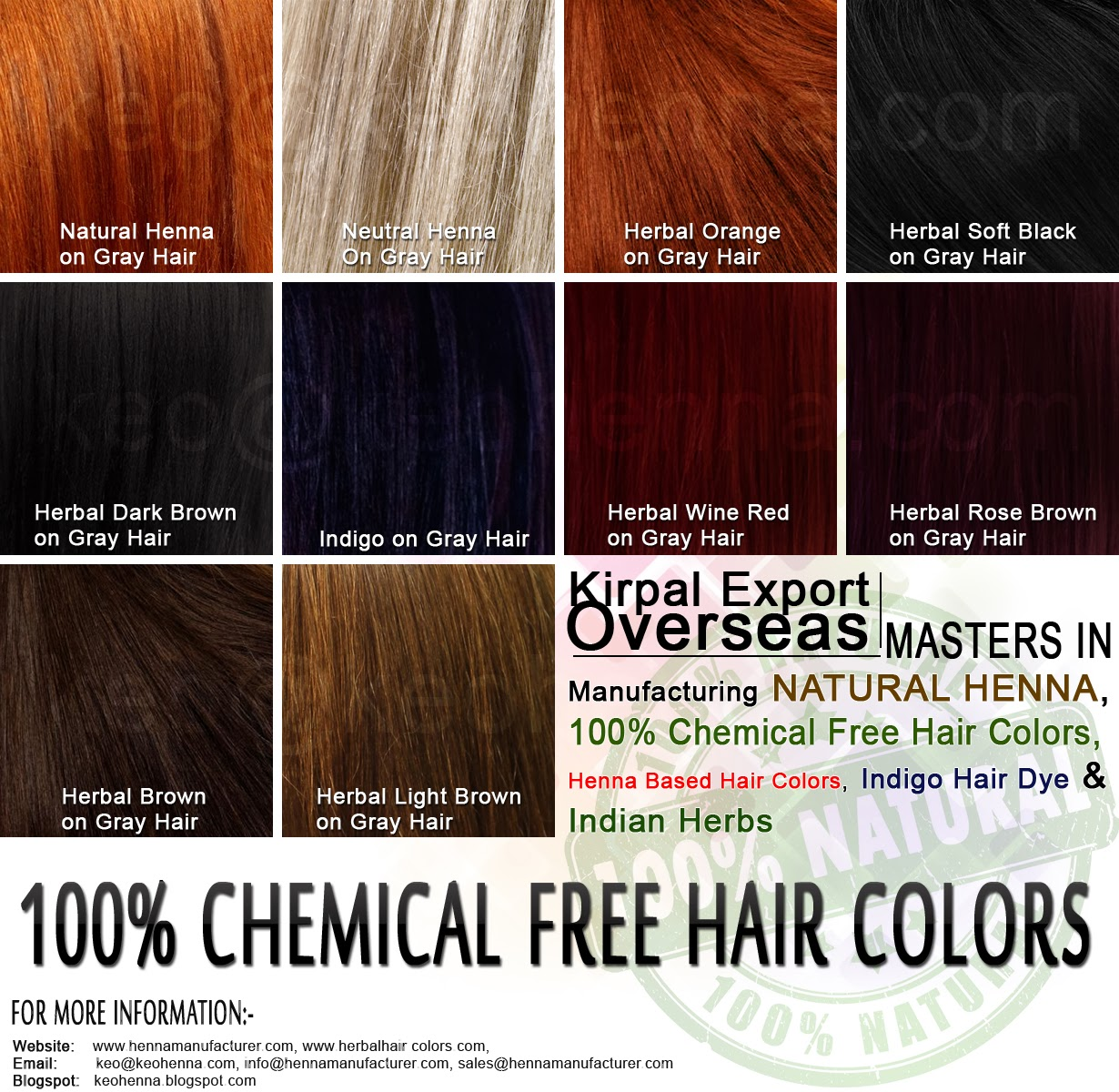 Kirpal Export Overseas Natural Henna Manufacturers Herbal Hair
