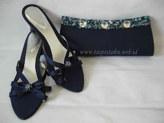 Tas Pesta Clutch Bag dan Sandal Pesta