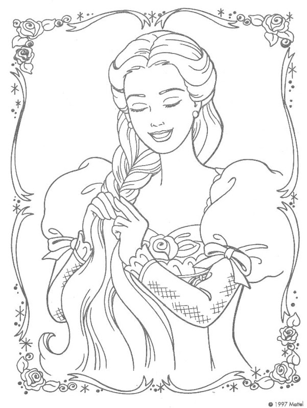 Barbie of swan lake coloring pages coloring pages gallery for Barbie as rapunzel coloring pages
