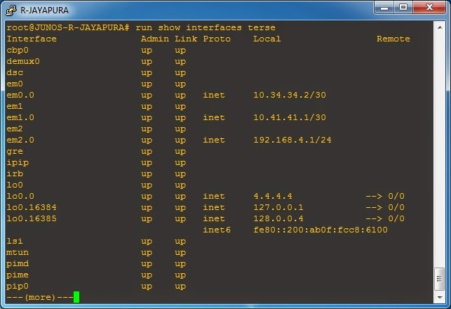 Show ospf database (R-Jayapura)
