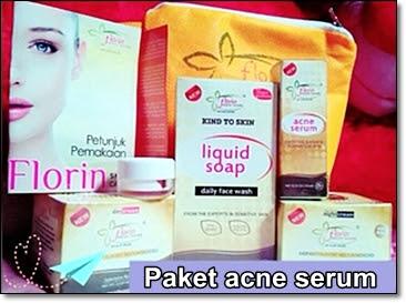Florin skin care paket acne serum Toko Fitria untuk menghilangkan jerawat membandel di wajah dengan cepat