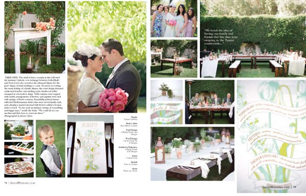 a vintage garden bridal shower and an indian inspired wedding in malibu