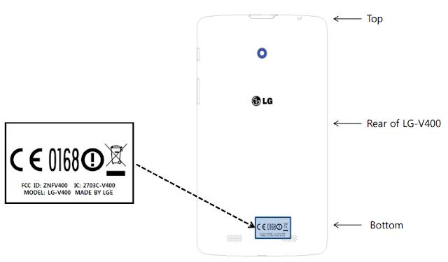 LG V400 FCC diagram
