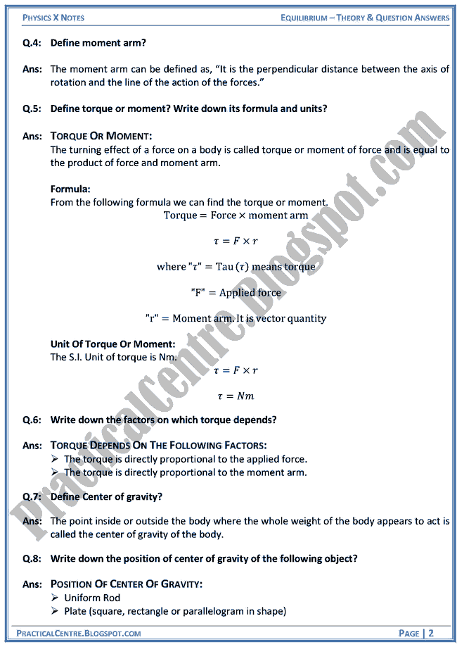 equilibrium-theory-and-question-answers-physics-x