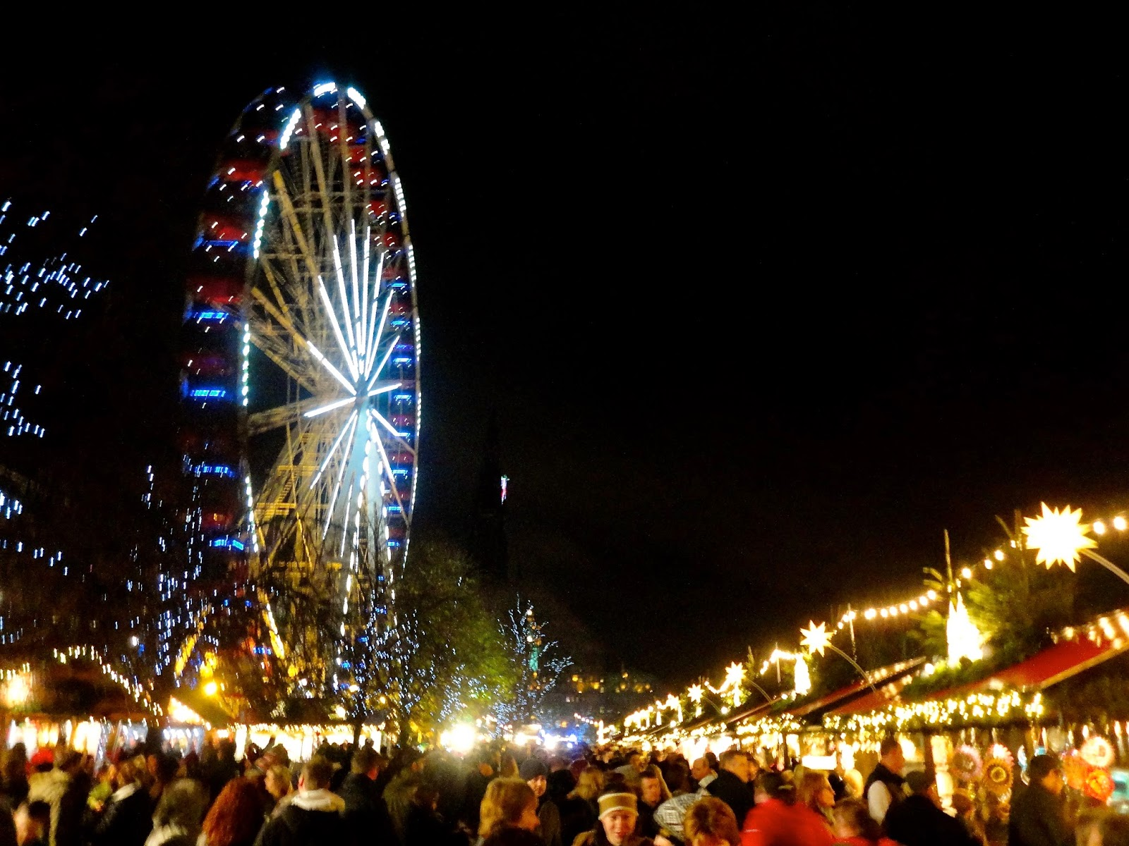 Ferris wheel in Edinburgh Winter Wonderland at Christmas in Princes Street Gardens