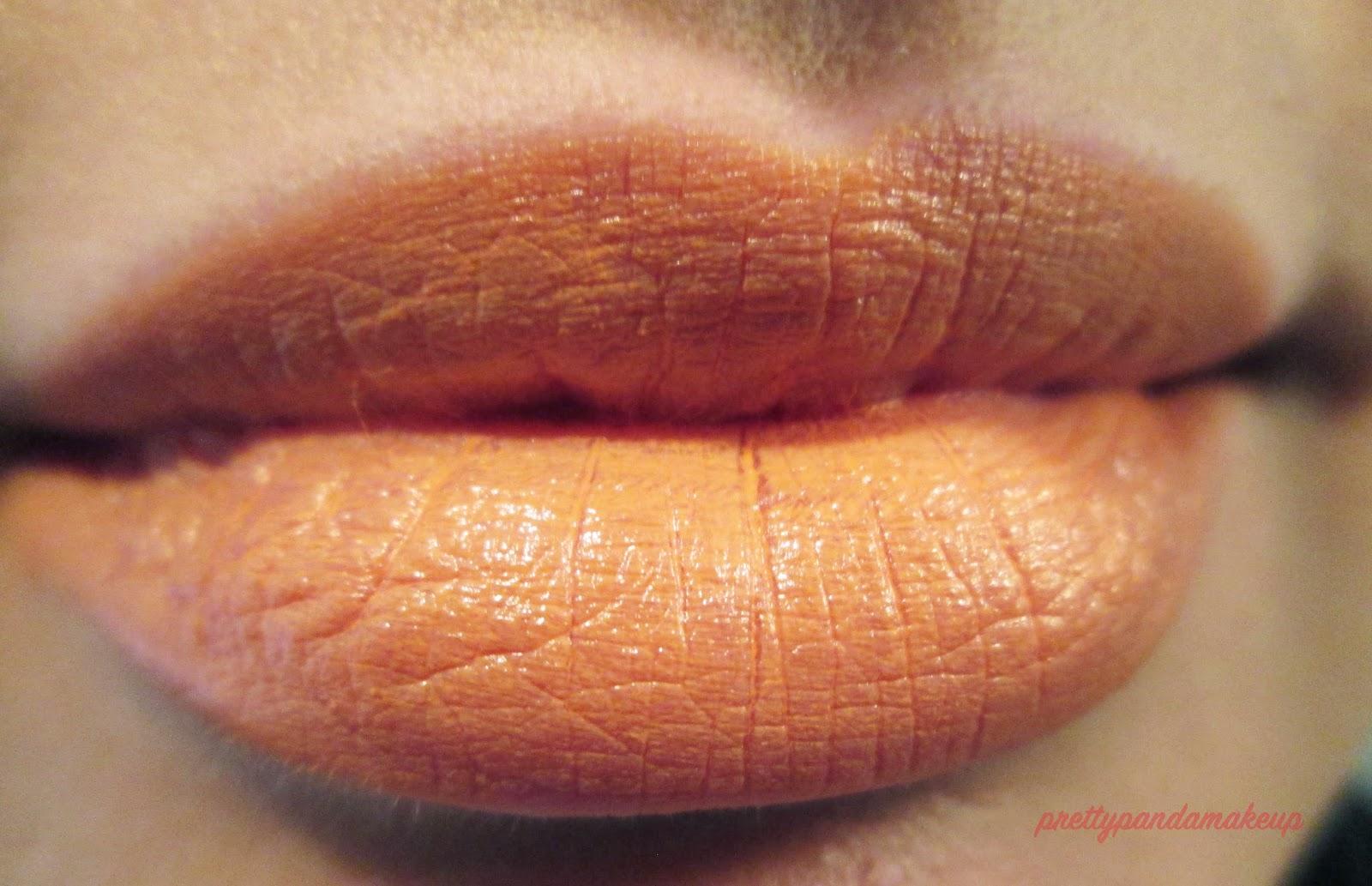 NYX macaron lipstick in orange blossom