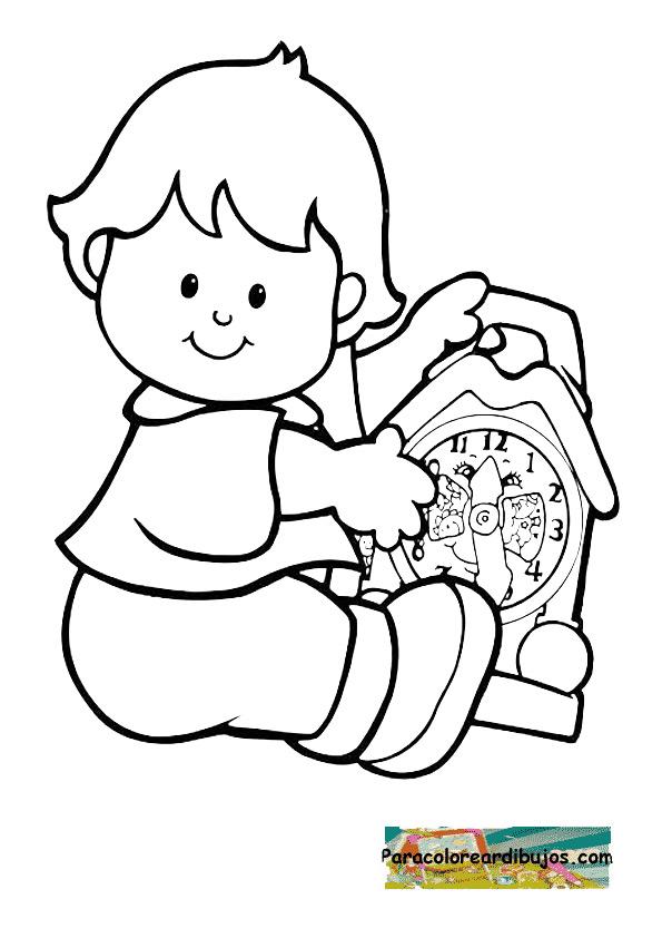 Un Reloj De Arena Para Colorear Pintar E Imprimir