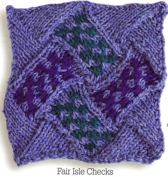 Knitting Patterns Free: Entrelac Knitting Pattern #1: Stockinette stitch