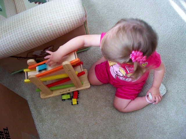 Addie with the car ramp.