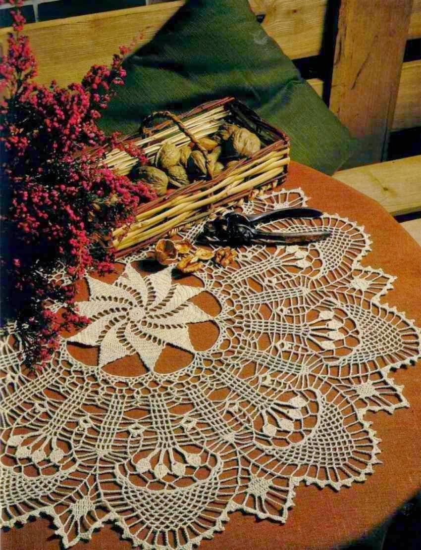 Carpeta tejida con ganchillo - con esquema
