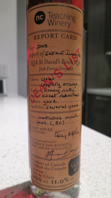 Wine Review of 2009 NCT Dean's List Savant Icewine from Jack Forrer Vineyard, VQA St. David's Bench, Niagara Peninsula, Ontario, Canada